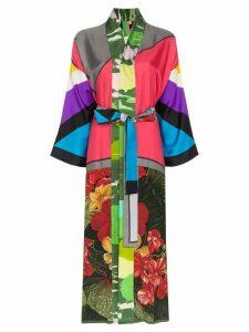Rianna + Nina panelled floral print kimono - Multicolour