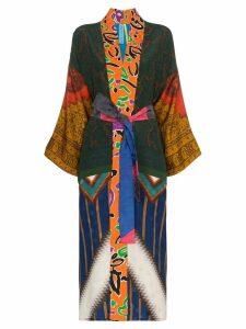 Rianna + Nina mixed Aztec print kimono - Multicolour
