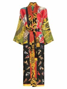Rianna + Nina shoe print kimono - Multicoloured