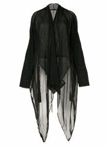 Masnada long sheer cardigan - Black
