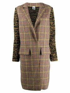 M Missoni plaid trench coat - Brown