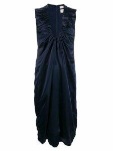 Bottega Veneta gathered detail satin dress - Blue
