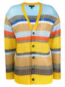 Rag & Bone striped colour block cardigan - Yellow