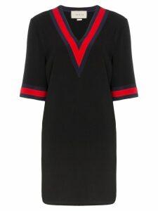 Gucci Web-trim shift dress - Black