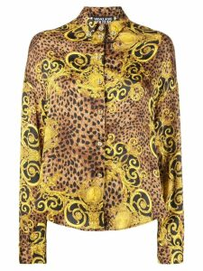 Versace Jeans Couture Barocco leopard print shirt - Brown