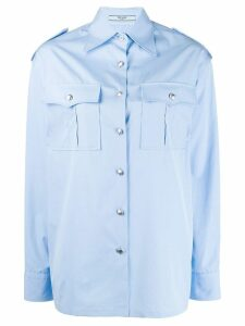 Prada classic pocket shirt - Blue