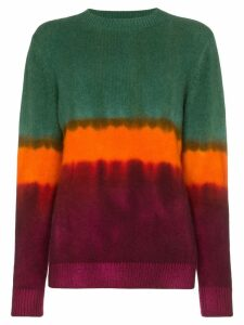 The Elder Statesman tie-dye cashmere sweater - Green