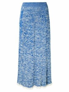Christopher Esber pleated skirt - Blue