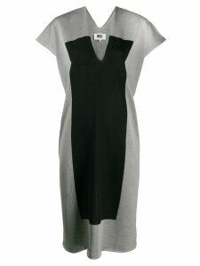 Mm6 Maison Margiela panel shift dress - Grey