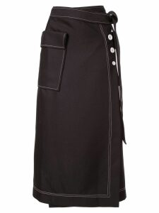 CAMILLA AND MARC Faith Topstitch twill skirt - Black