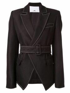 CAMILLA AND MARC Faith Topstitch twill blazer - Black