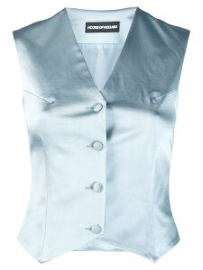 HOUSE OF HOLLAND classic fitted waistcoat - Blue