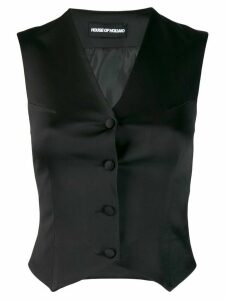 HOUSE OF HOLLAND classic fitted waistcoat - Black