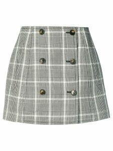 Stella McCartney check mini skirt - Black
