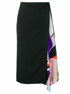 Emilio Pucci Vallauris-Print Insert Skirt - Black