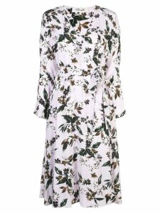Diane von Furstenberg floral print wrap dress - Purple