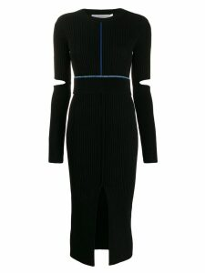 Victoria Beckham long-sleeve fitted dress - Black