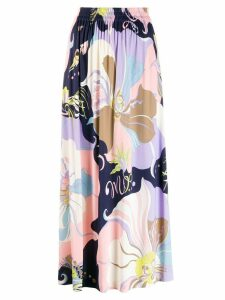 Emilio Pucci Mirabilis Print Gathered Midi Skirt - Multicolour