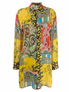Etro multi-print shirt - Yellow