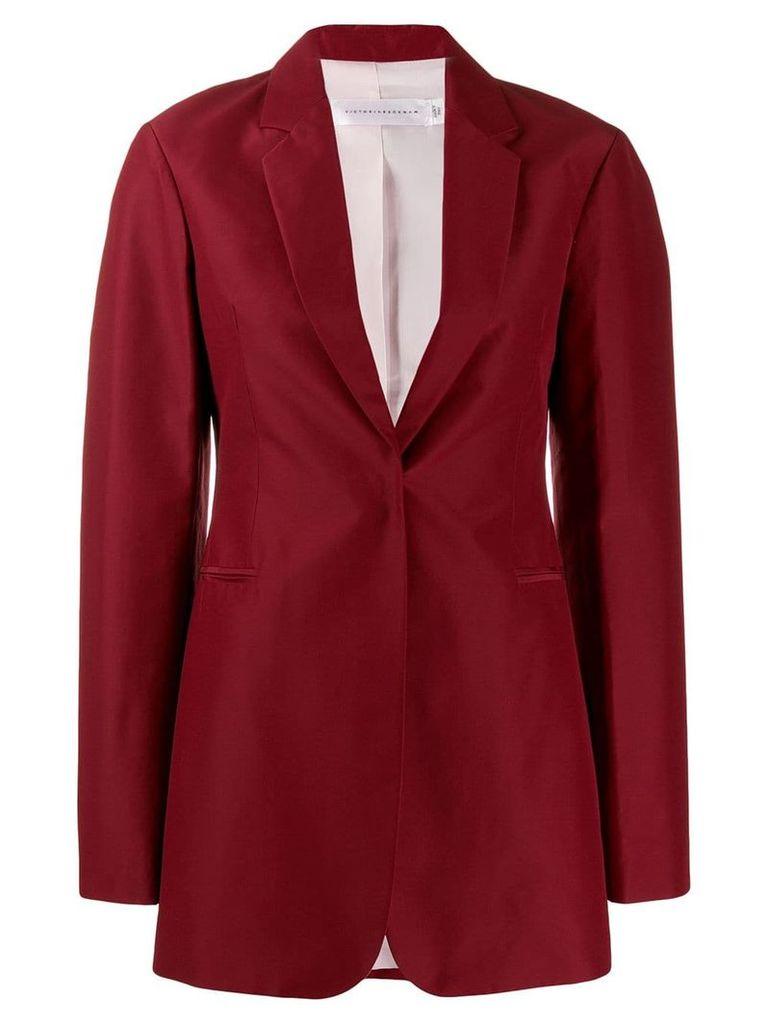 Victoria Beckham single-breasted blazer - Red