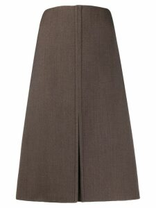 Jil Sander front slit skirt - Brown