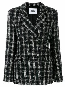 MSGM tweed blazer - Black