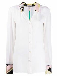 Emilio Pucci floral detailed shirt - White