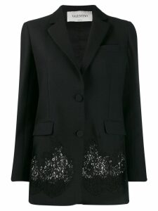 Valentino lace panel blazer - Black