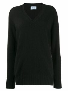 Prada v-neck cashmere jumper - Black