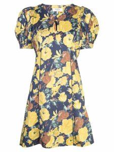 Sea floral print dress - Yellow