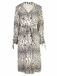 Sea double breasted leopard print coat - NEUTRALS