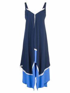 Diane von Furstenberg asymmetric paneled dress - Blue