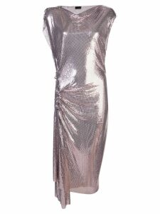 Paco Rabanne draped chainmail dress - Pink