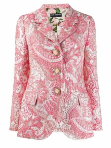 Dolce & Gabbana jacquard blazer - Pink