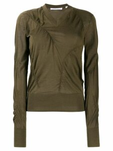 Helmut Lang ruched detail sweater - Green