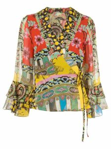 Etro all-over printed blouse - Green
