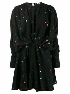 Attico Star sequin draped mini dress - Black