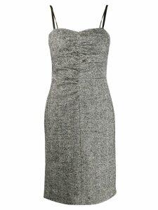 Nº21 fitted herringbone dress - Black