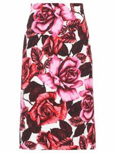 Prada floral poplin skirt - Pink