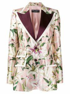 Dolce & Gabbana lily print blazer - Pink
