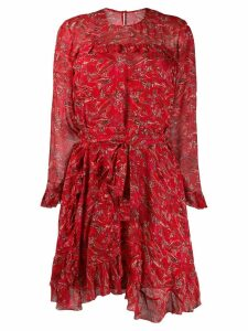 Iro long-sleeved printed dress - Red