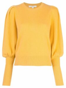 Jonathan Simkhai fitted long cuffs jumper - Yellow