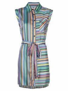 Milly striped day dress - Blue
