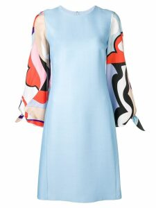 Emilio Pucci Vallauris Print Sleeve Knee-Length Dress - Blue