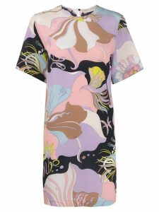 Emilio Pucci floral mini shift dress - PINK