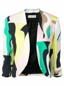 Emilio Pucci Vallauris Print Open Front Blazer - Green