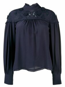 See By Chloé floral embroidery blouse - Blue