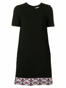Emilio Pucci Contrast Hem Mini Dress - Black
