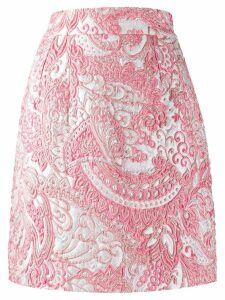 Dolce & Gabbana high-waisted jacquard skirt - PINK