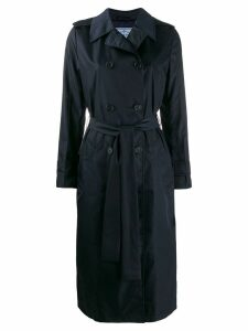 Prada double-breasted trench coat - Blue